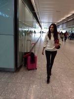 Amyra Dastur spotted at the airport on her way to London for her next film Ticket To Bollywood on 24th July 2015