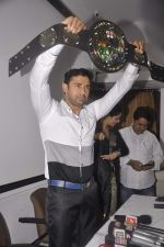 Sangram singh Internatiional Wrestler unveils WWP Common Wealth Wrestling Championship belt in Mumbai on 22nd July 2015