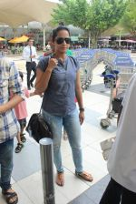 Ansha Syed snapped at airport on 24th July 2015