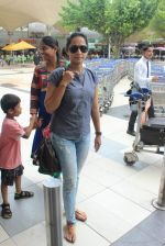 Ansha Syed snapped at airport on 24th July 2015 (28)_55b37af2d9c87.JPG