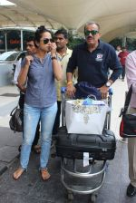 Shivaji Satam, Ansha Sayed snapped at airport on 24th July 2015