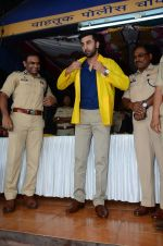 Ranbir Kapoor launches Mumbai FC tee for mumbai traffic cops in Bandra on 25th July 2015