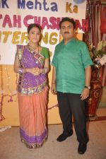 Dilip Joshi, Disha Vakani at taarak mehta ka ooltah chashmah celebrates 8 years in Kandivli on 27th July 2015 (45)_55b71d6d58a4e.JPG