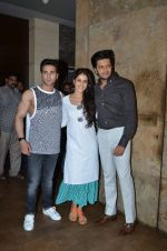 Riteish Deshmukh, Genelia D Souza, Pulkit Samrat at the screening of Bangistan at Lightbox on 29th July 2015