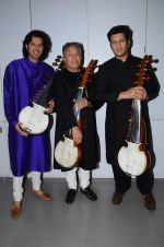 Amjad Ali Khan with sons Amaan and Ayaan Shoot for Vande Maataram at Collective Image Productions Lower Parel on 30th July 2015