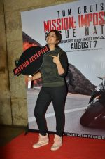 Parineeti Chopra at a special screening of Mission Impossible 5 in Lightbox on 1st Aug 2015
