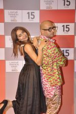 Anusha Dandekar at Lakme fashion week preview in Mumbai on 3rd Aug 2015