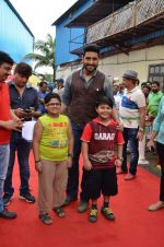 Abhishek Bachchan on the sets of Sab Tv