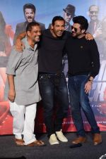 Anil Kapoor, John Abraham, Nana Patekar at Welcome Back title song launch in Mumbai on 8th Aug 2015