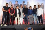 Anil Kapoor, John Abraham, Nana Patekar, Anees Bazmee, Firoz Nadiadwala, Mika Singh at Welcome Back title song launch in Mumbai on 8th Aug 2015