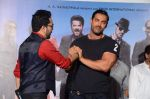 John Abraham, Mika Singh at Welcome Back title song launch in Mumbai on 8th Aug 2015