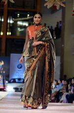 Model walk the ramp for Ashima Leena Show at India Bridal Week on 8th Aug 2015