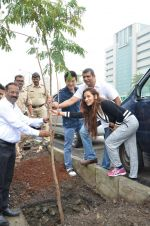 Meiyang Chang at tree plantation event in Malad on 9th Aug 2015