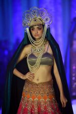 Model walk the ramp for JJ Valaya show at India Bridal week on 9th Aug 2015