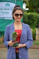 Monica Bedi at tree plantation event in Malad on 9th Aug 2015
