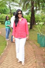 Sakshi Tanwar at tree plantation event in Malad on 9th Aug 2015