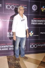at Screenwriters meet in J W Marriott on 9th Aug 2015