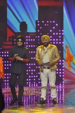 Daler mehndi, Mika Singh at Voice of India - Independence day special shoot in R K Studios on 10th Aug 2015