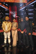 Mika Singh, Daler mehndi , Sunidhi Chauhan, Shaan at Voice of India - Independence day special shoot in R K Studios on 10th Aug 2015