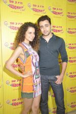 Kangana Ranaut and Imran Khan at Radio Mirchi studio to promote their film Katti Batti on 12th Aug 2015