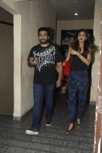Raj Kundra, Shilpa Shetty snapped at Chandan cinema on 14th Aug 2015