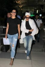 Deepika Padukone, Rekha airport on 17th Aug 2015