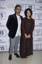 Mayank Anand, Shraddha Nigam at Abu Jani Red Carpet on 25th Aug 2015