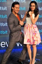 Tiger Shroff and Shraddacha Kapoor in Delhi for fitbit launch in Mumbai on 25th Aug 2015