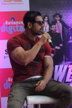 John Abraham at Welcome Back promotions in Reliance Digital, Juhu on 29th Aug 2015