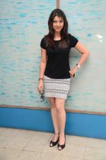 Tejaswini Pandit at Marathi film Tu Hi Re song recording in Famous on 31st Aug 2015