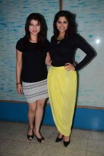 Tejaswini Pandit, Sai Tamhankar at Marathi film Tu Hi Re song recording in Famous on 31st Aug 2015 (85)_55e5558458adb.JPG