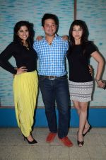 Tejaswini Pandit, Swapnil Joshi, Sai Tamhankar at Marathi film Tu Hi Re song recording in Famous on 31st Aug 2015 (48)_55e5558cb26b2.JPG