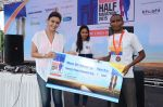 Hrishtaa Bhatt felicitated the winners of the  at the   Mirchi Monsoon Half Marathon