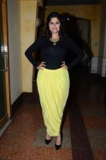 Sai Tamhankar at Marathi film Tu Hi Re song recording in Famous on 31st Aug 2015