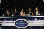 Sonakshi Sinha, John Abraham, Anil Kapoor, Salim merchant, Vishal Dadlani on Indian Idol Location on 31st Aug 2015