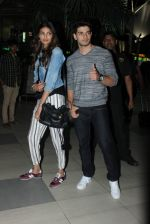 Sooraj Pancholi and Athiya Shetty return from Ahmedabad on 2nd Sept 2015