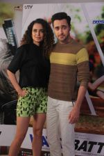 kangana Ranaut and imran Khan promote katti batti in Mumbai on 2nd Sept 2015