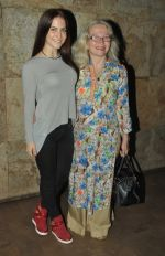Elli Avram with her mom at the screening of Hollywood movie Transporter Refuelled hosted by Joe Rajan at Light Box Theatre.