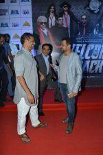 Nana Patekar, Anees Bazmee, Firoz Nadiadwala at welcome back premiere in Mumbai on 3rd  Sept 2015