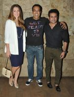 Vindu Dara Singh with wife Dina & Joe Rajan at the screening of Hollywood movie Transporter Refuelled at Light Box Theatre.1_55e93eca23c0a.JPG