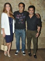 Vindu Dara Singh with wife Dina & Joe Rajan at the screening of Hollywood movie Transporter Refuelled at Light Box Theatre_55e93ec853c39.JPG