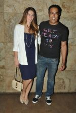 Vindu Dara Singh with wife Dina at the screening of Hollywood movie Transporter Refuelled hosted by Joe Rajan at Light Box Theatre_55e93ecdf1613.JPG
