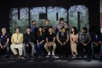 Salman Khan, Athiya Shetty, Sooraj Pancholi , Bhushan Kumar, Nikhil Advani at Hero music launch in Taj Lands End on 6th Sept 2015