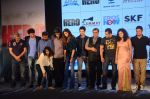 Salman Khan, Athiya Shetty, Sooraj Pancholi,Amaal Mallik, Nikhil Advani, Subhash Ghai, Palak Muchchal, Bhushan Kumar at Hero music launch in Taj Lands End on 6th Sept 2015 (11