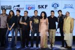 Salman Khan, Athiya Shetty, Sooraj Pancholi,Amaal Mallik, Nikhil Advani, Subhash Ghai, Palak Muchchal, Bhushan Kumar at Hero music launch in Taj Lands End on 6th Sept 2015 (68