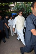 Amitabh Bachchan at Aadesh Shrivastava prayer meet on 8th Sept 2015