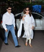 Madhuri Dixit at Aadesh Shrivastava prayer meet on 8th Sept 2015
