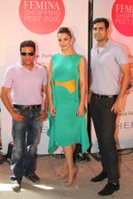 Owners of F Beach House with Amy Jackson at Femina Shopping Fest 2015 at F Beach House in Pune