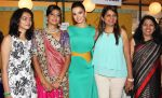 Winners of the contest with Amy Jackson at Femina Shopping Fest 2015 at F Beach House in Pune.