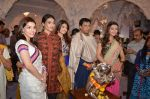 Madhur Bhandarkar with Calender Girls at Ganpati celebrations on 17th Sept 2015